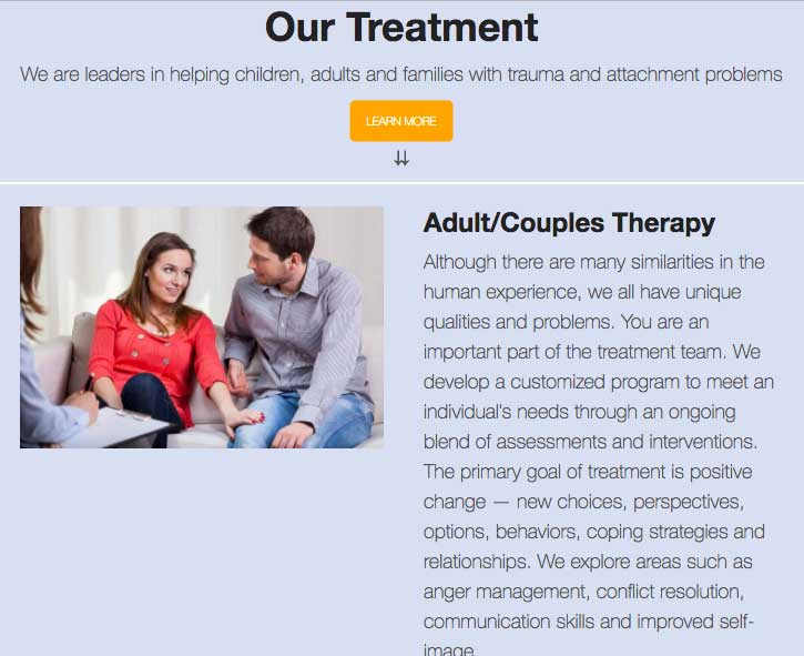 Evergreen Psychotherapy website