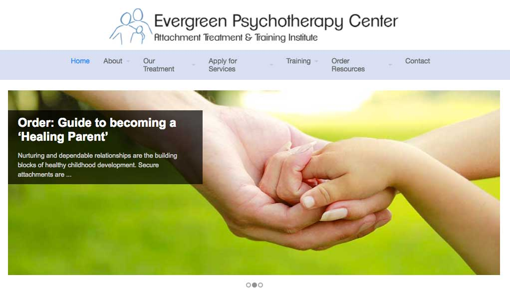 Evergreen Psychotherapy website build