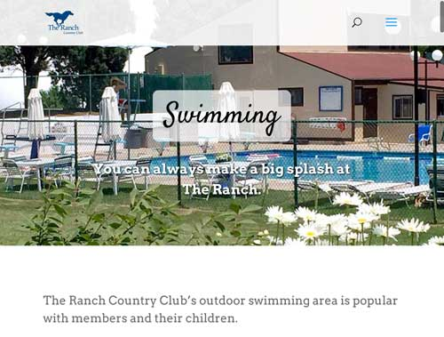 The Ranch Country Club website screen grab