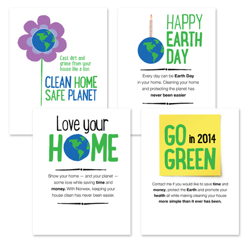Norwex card samples of great content writing and creative add agency work from Denver